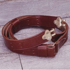 Brown Leather Military Rifle Sling