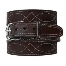 Fancy Stitch Leather Belt